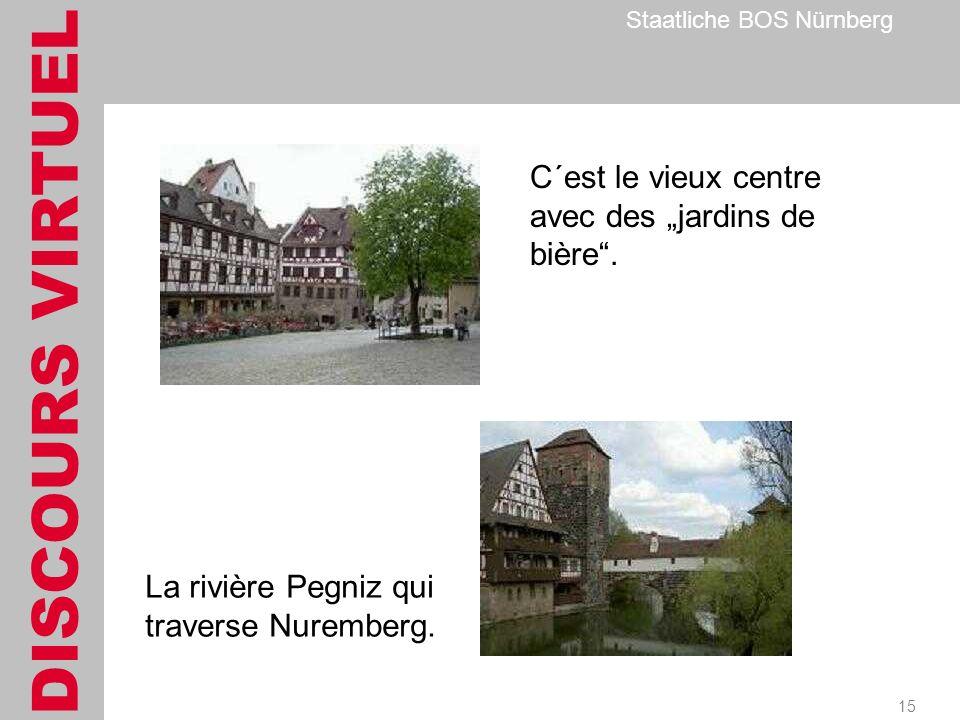 DISCOURS VIRTUEL Staatliche BOS Nürnberg 15 C´est le vieux centre avec des jardins de bière.