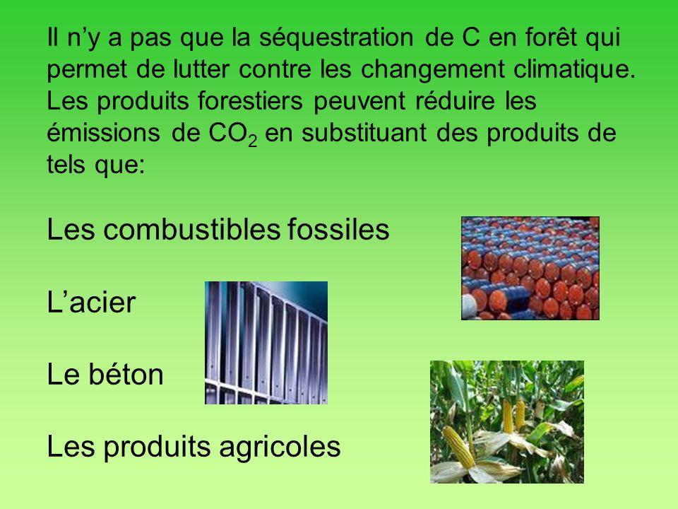 Il ny a pas que la séquestration de C en forêt qui permet de lutter contre les changement climatique. Les produits forestiers peuvent réduire les émis