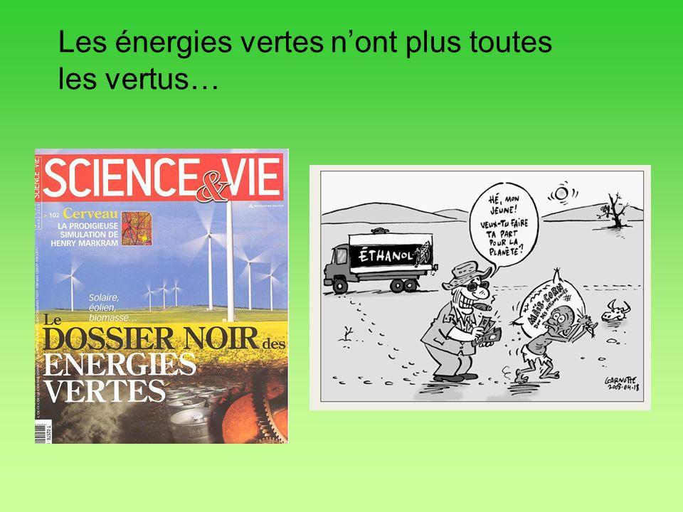 Les énergies vertes nont plus toutes les vertus…