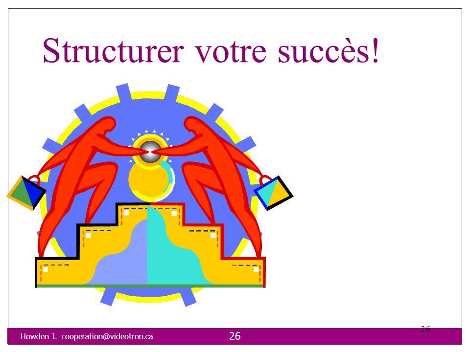 Howden J. cooperation@videotron.ca 26 Structurer votre succès! 26
