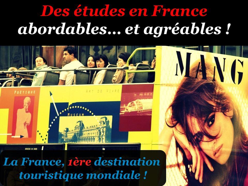 Des études en France abordables… et agréables ! La France, 1ère destination touristique mondiale !