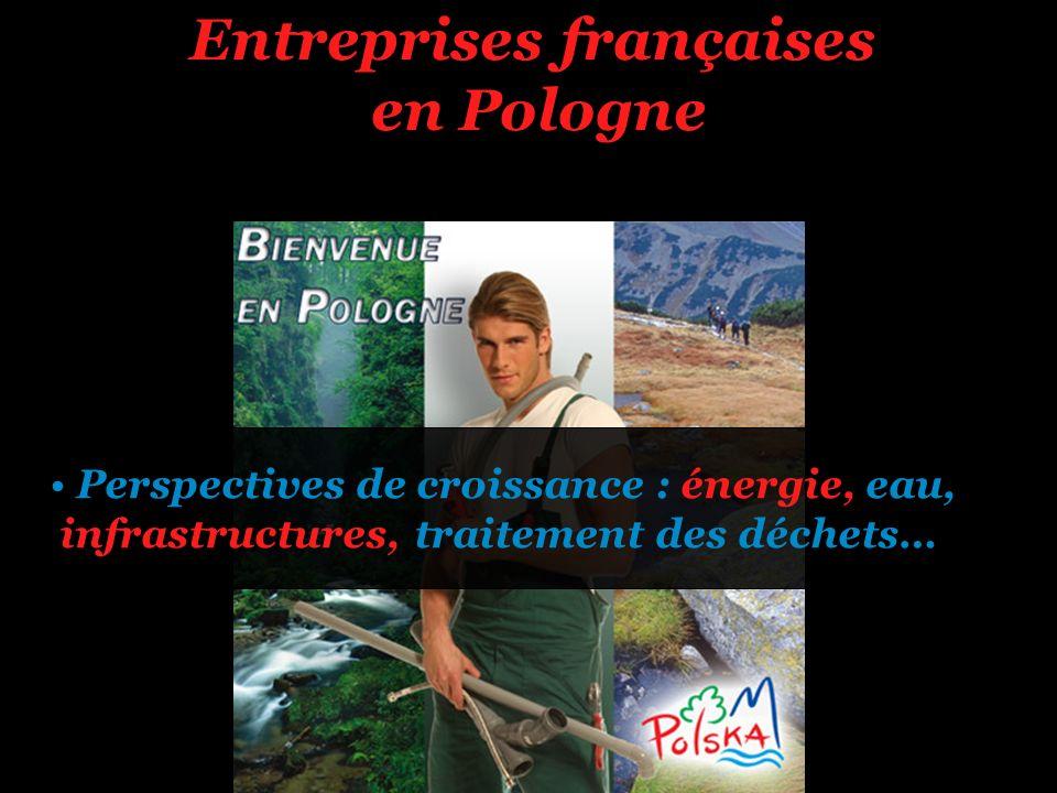 Entreprises françaises en Pologne Perspectives de croissance : énergie, eau, infrastructures, traitement des déchets…