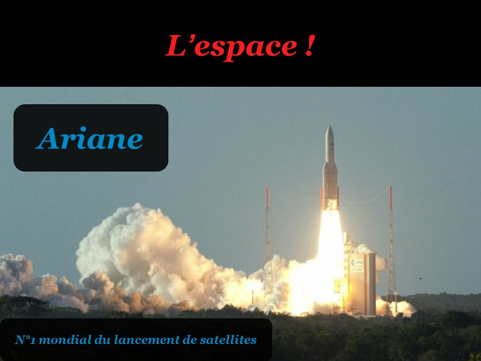 Lespace ! Ariane N°1 mondial du lancement de satellites