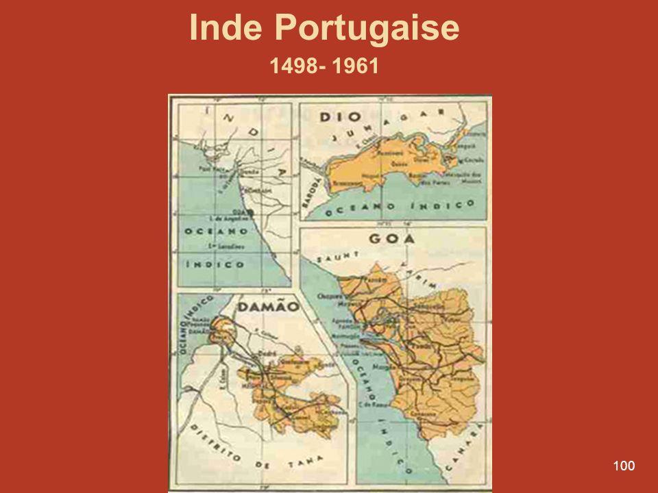 100 Inde Portugaise 1498- 1961