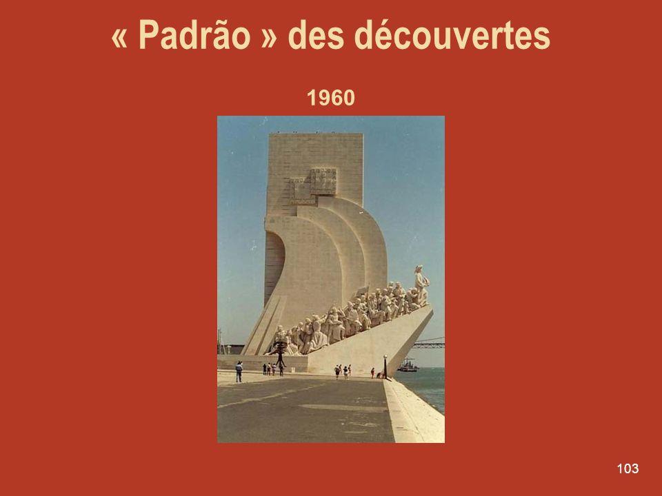 103 « Padrão » des découvertes 1960