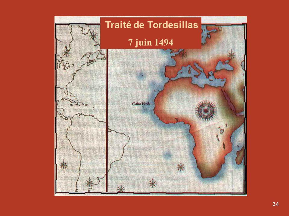34 Traité de Tordesillas 7 juin 1494