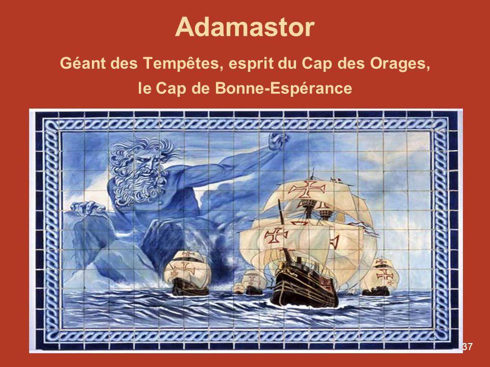 37 Adamastor Géant des Tempêtes, esprit du Cap des Orages, le Cap de Bonne-Espérance