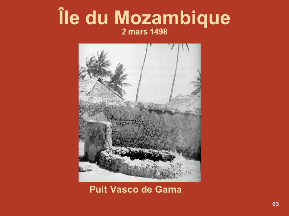 63 Puit Vasco de Gama Île du Mozambique 2 mars 1498