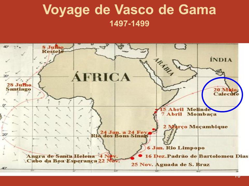 70 Voyage de Vasco de Gama 1497-1499
