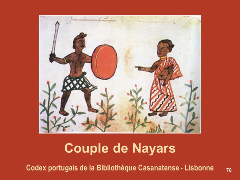 78 Couple de Nayars Codex portugais de la Bibliothèque Casanatense - Lisbonne
