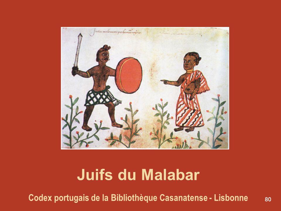 80 Juifs du Malabar Codex portugais de la Bibliothèque Casanatense - Lisbonne