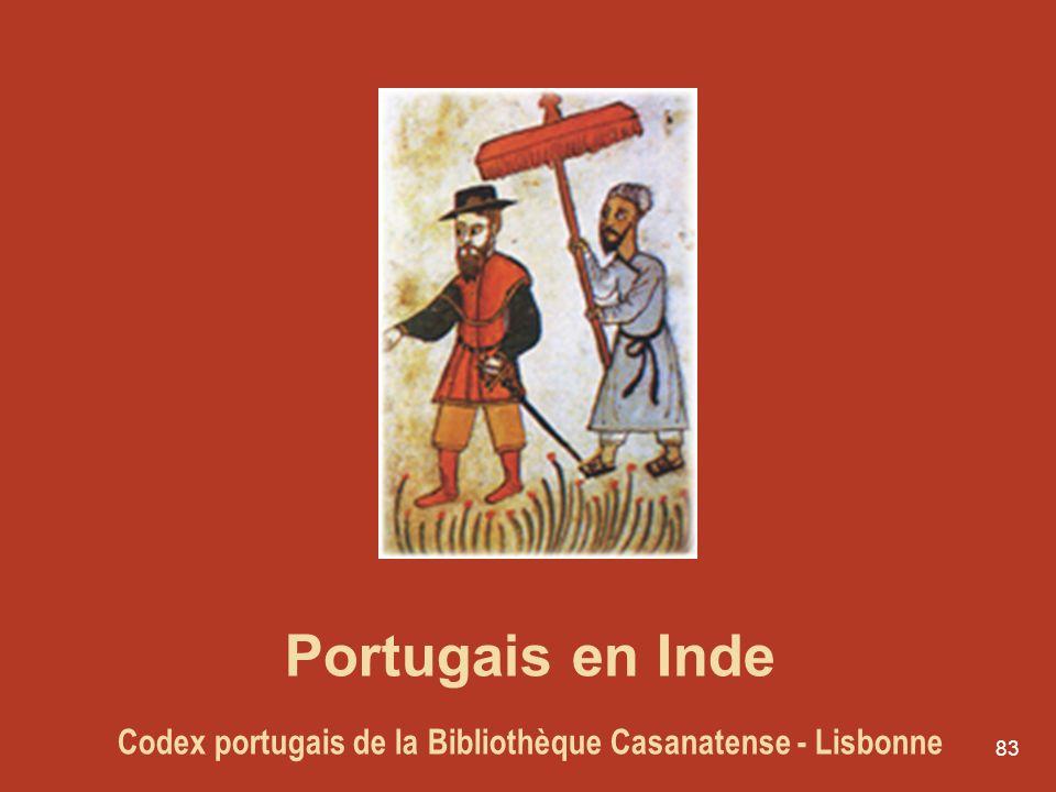 83 Portugais en Inde Codex portugais de la Bibliothèque Casanatense - Lisbonne