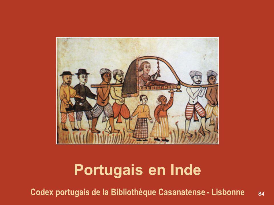84 Portugais en Inde Codex portugais de la Bibliothèque Casanatense - Lisbonne