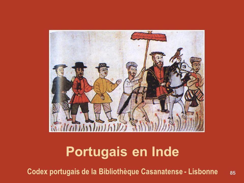 85 Portugais en Inde Codex portugais de la Bibliothèque Casanatense - Lisbonne