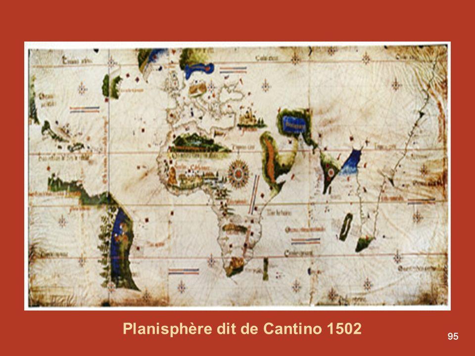 95 Conferências por Luís Aguila r Le Portugal, entre mers et monde Planisphère dit de Cantino 1502