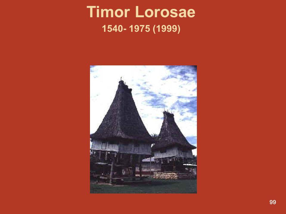 99 Timor Lorosae 1540- 1975 (1999)