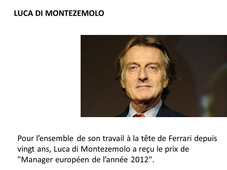 Pour lensemble de son travail à la tête de Ferrari depuis vingt ans, Luca di Montezemolo a reçu le prix de