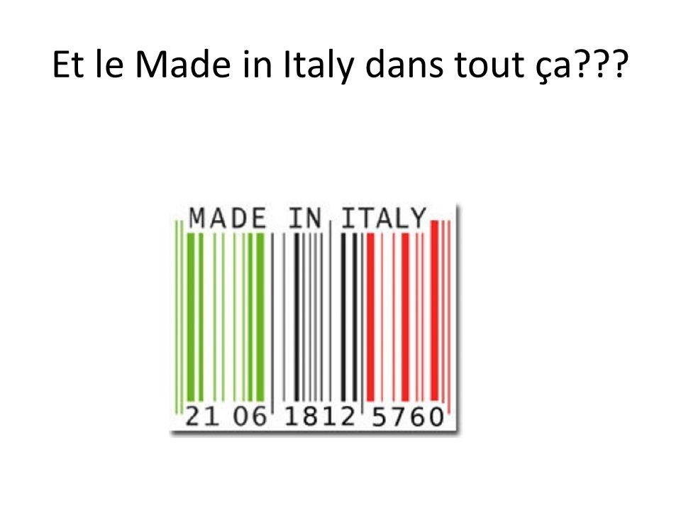 Et le Made in Italy dans tout ça???