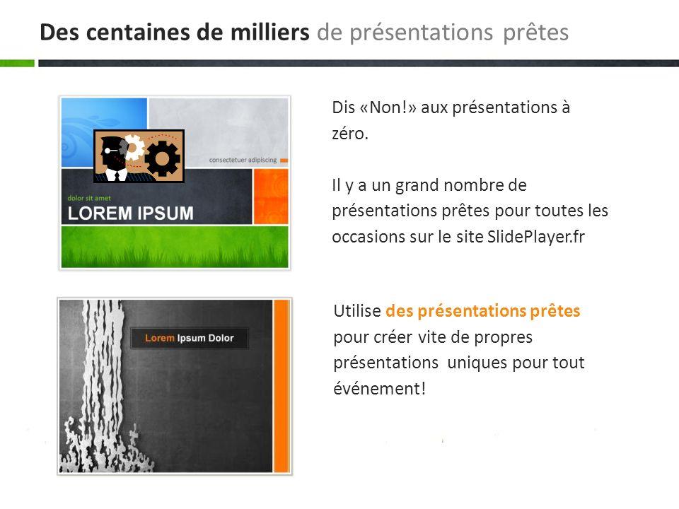 Utilise des présentations prêtes pour créer vite de propres présentations uniques pour tout événement! Dis «Non!» aux présentations à zéro. Il y a un