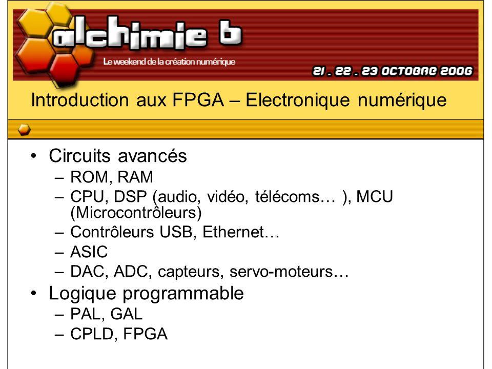 Introduction aux FPGA – Conception Outils (Xilinx) Spartan-3 Starter Board ISE WebPack ModelSim Source : Diligent