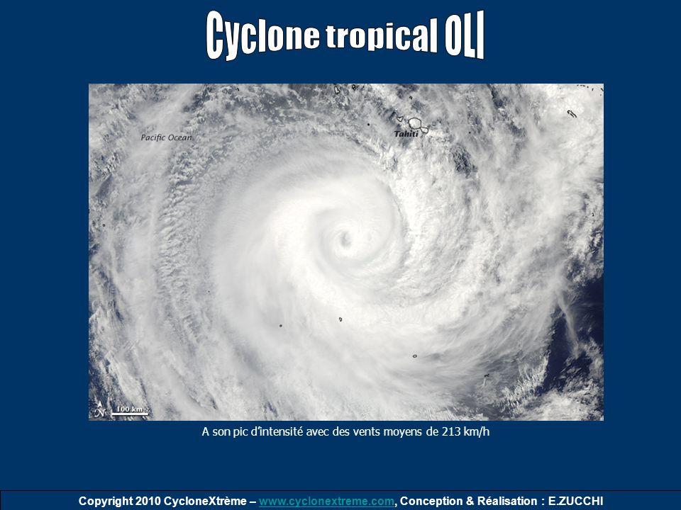 Copyright 2010 CycloneXtrème – www.cyclonextreme.com, Conception & Réalisation : E.ZUCCHIwww.cyclonextreme.com A son pic dintensité avec des vents moy