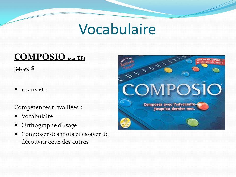 Vocabulaire DÉFINIMAGE par McWiz 19,99 $ 12 ans et plus Compétences travaillées : Conscience syllabique et du mot Formation dun mot à partir de deux autres mots