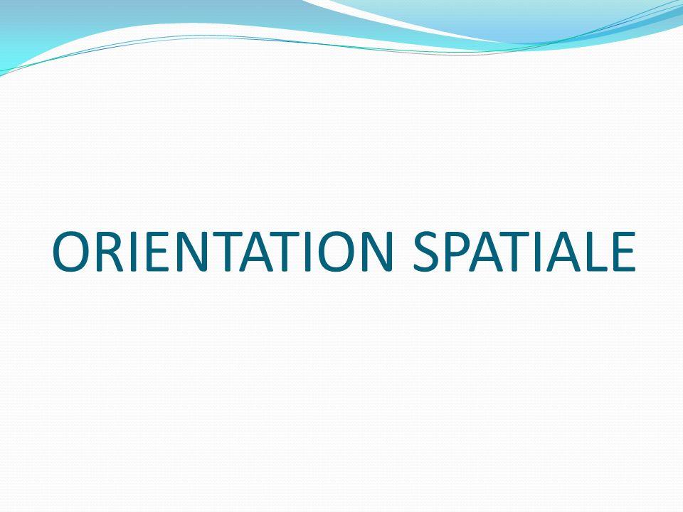 Orientation spatiale OÙ EST-CE .