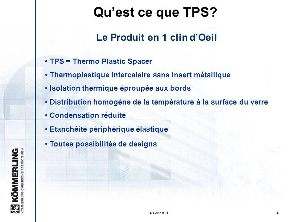 A.Lorin KCF14 Meilleure étanchéité des systemes warm edge avec le biseau breveté Biseau breveté Qu est-ce qui rend le TPS si particulier ?