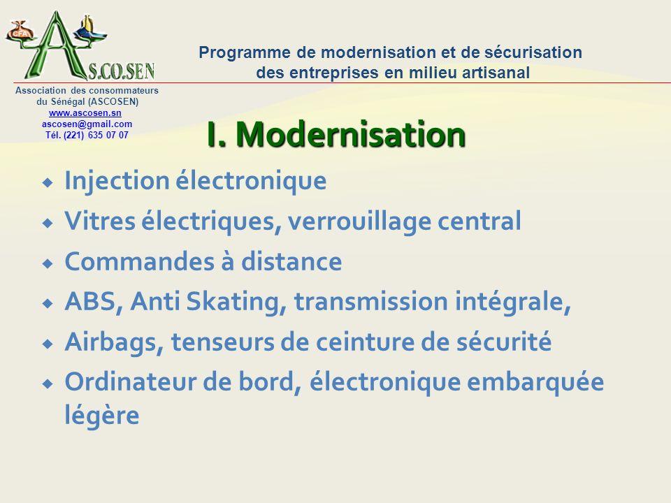 Programme de modernisation et de sécurisation des entreprises en milieu artisanal Association des consommateurs du Sénégal (ASCOSEN) www.ascosen.sn ascosen@gmail.com Tél.