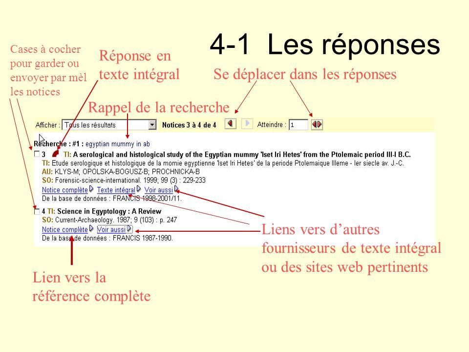 Réponse en texte intégral Lien vers la référence complète Liens vers dautres fournisseurs de texte intégral ou des sites web pertinents Se déplacer da