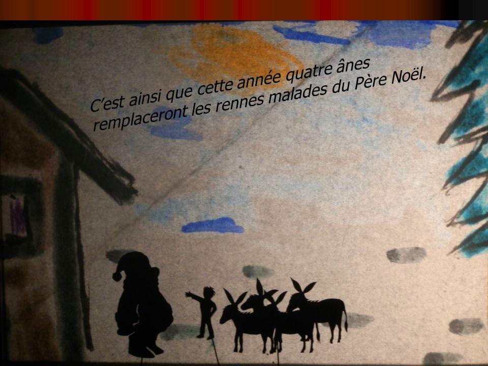 Cest ainsi que cette année quatre ânes remplaceront les rennes malades du Père Noël.