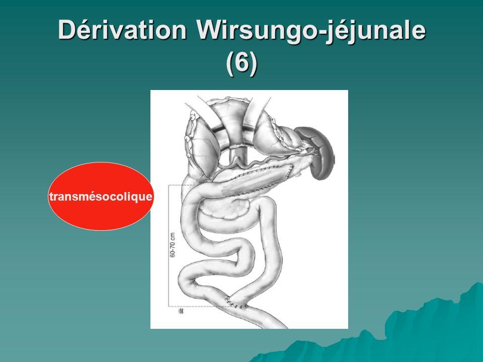 Dérivation Wirsungo-jéjunale (6) transmésocolique
