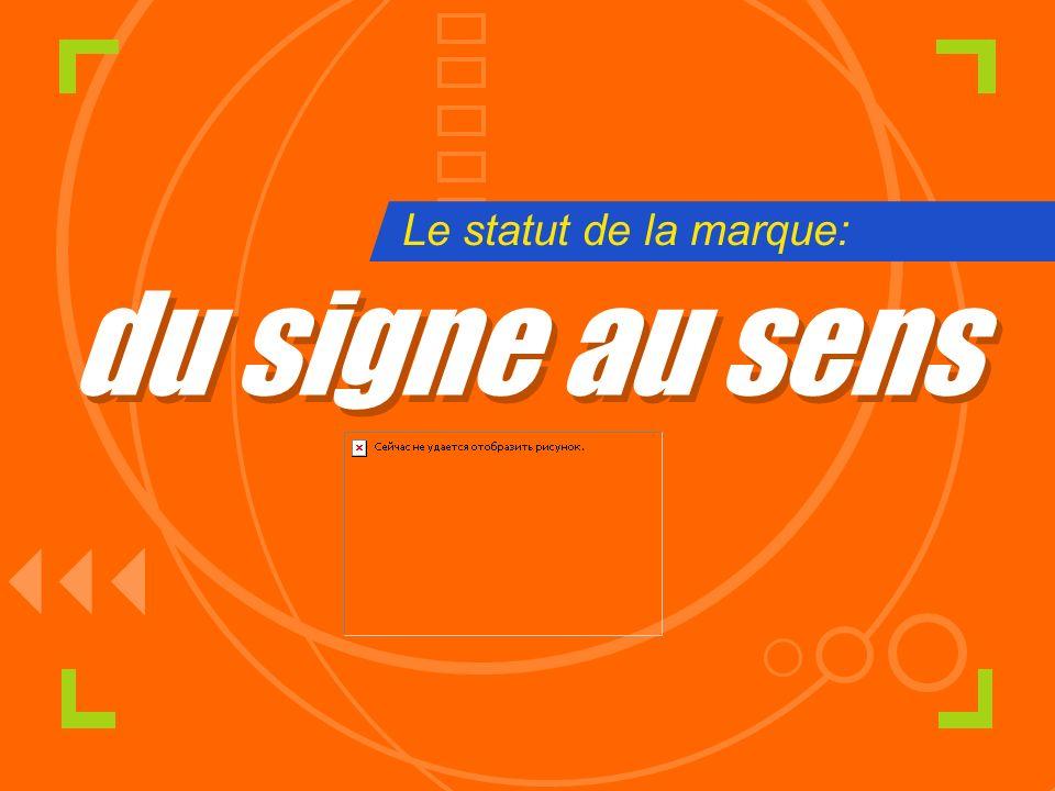 du signe au sens du signe au sens Le statut de la marque: