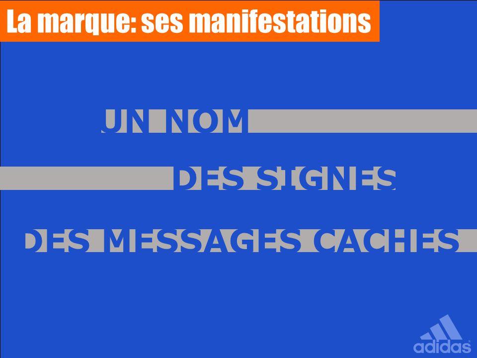 La marque: ses manifestations UN NOM DES MESSAGES CACHÉS DES SIGNES