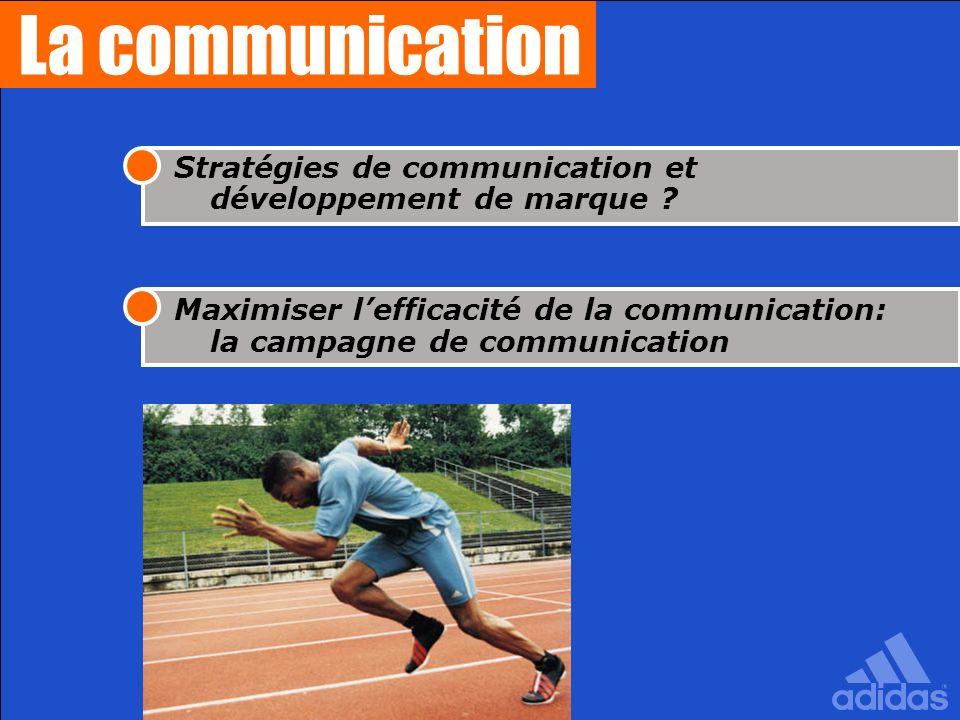 La communication Stratégies de communication et développement de marque ? Maximiser lefficacité de la communication: la campagne de communication