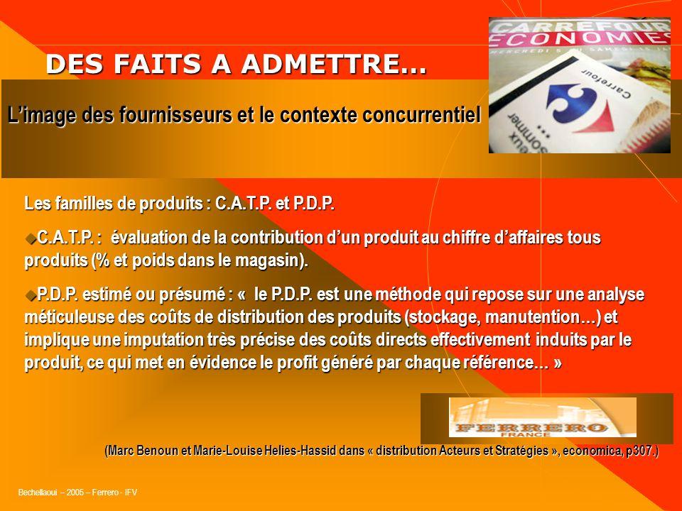 Bechellaoui – 2005 – Ferrero - IFV DES FAITS A ADMETTRE… DES FAITS A ADMETTRE… Les plus produits ou linnovation transversale : La qualité La qualité V