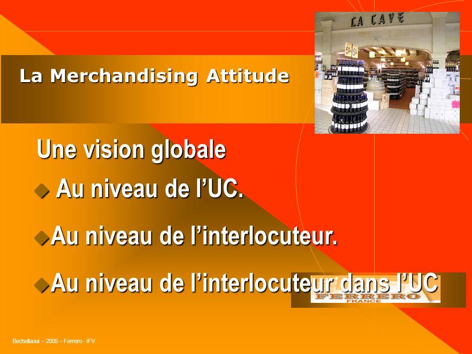 Bechellaoui – 2005 – Ferrero - IFV La Merchandising Attitude La Merchandising Attitude Une vision globale H. : Homme H. : Homme M. : Méthodes M. : Mét