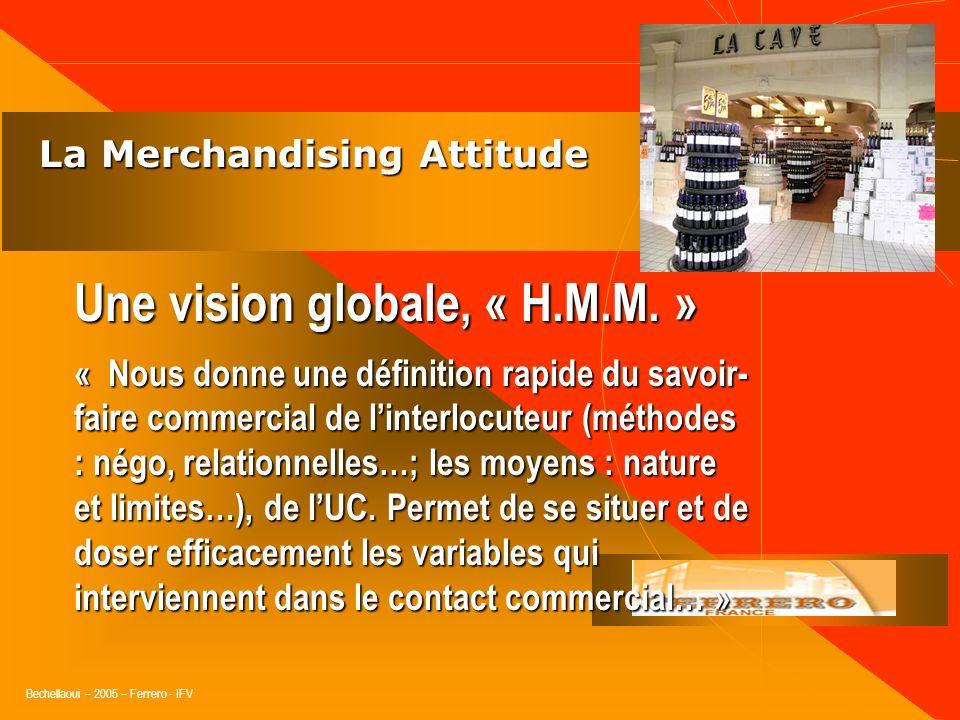Bechellaoui – 2005 – Ferrero - IFV La Merchandising Attitude La Merchandising Attitude Une vision globale Au niveau de lUC. Au niveau de lUC. Au nivea