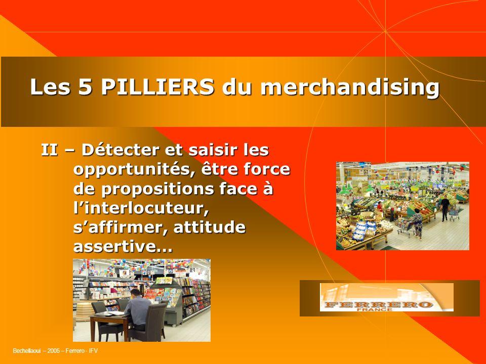 Bechellaoui – 2005 – Ferrero - IFV Les 5 PILLIERS du merchandising I. Comprendre le marché et sa dynamique : tendances, concurrences, offres, segments