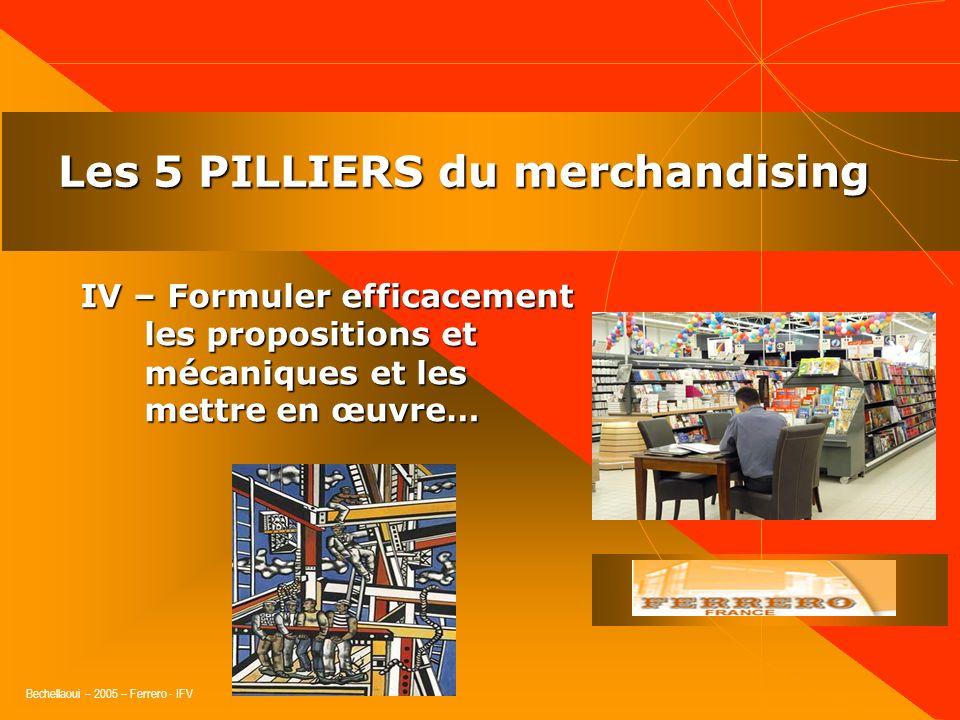Bechellaoui – 2005 – Ferrero - IFV Les 5 PILLIERS du merchandising III – Être le représentant du consommateur auprès de linterlocuteur, bien connaître