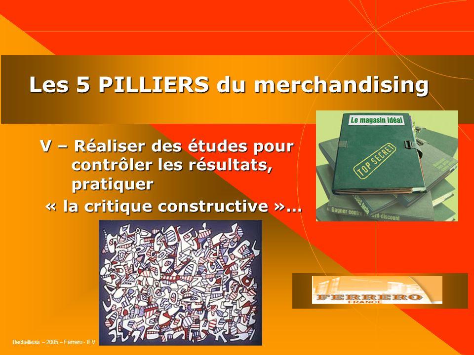 Bechellaoui – 2005 – Ferrero - IFV Les 5 PILLIERS du merchandising IV – Formuler efficacement les propositions et mécaniques et les mettre en œuvre…