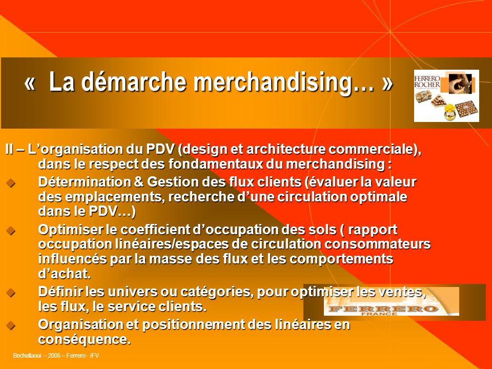 Bechellaoui – 2005 – Ferrero - IFV I – Assembler les informations nécessaires à la mise en place dune action merchandising : consommation, tendances,