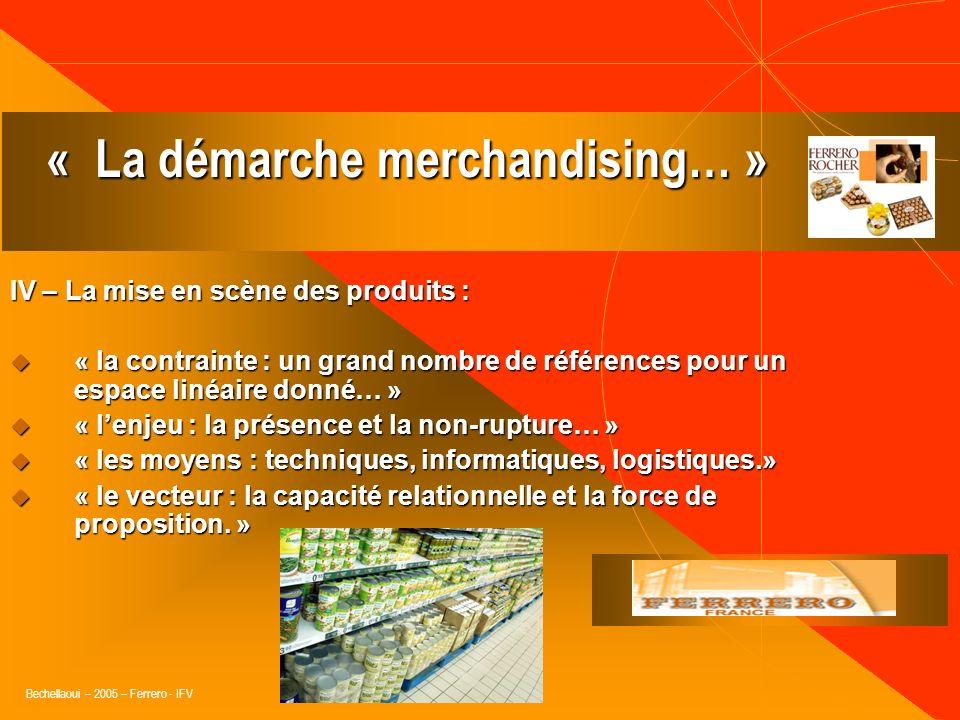 Bechellaoui – 2005 – Ferrero - IFV III – Gestion des rayons (répartition des linéaires par rayon): influence directe sur la taille des assortiments… «