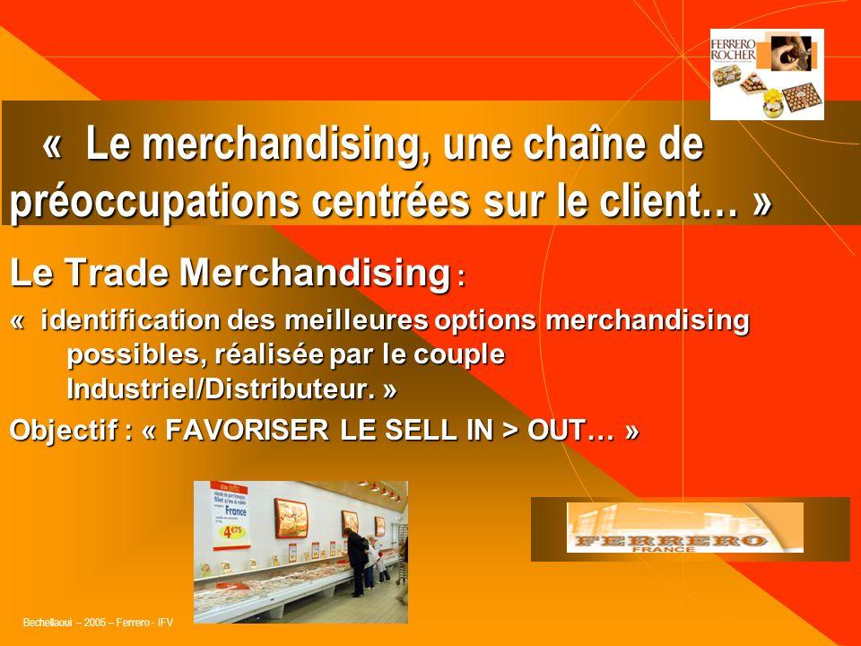 Bechellaoui – 2005 – Ferrero - IFV Le Trade marketing et le Merchandising : Couverture des champs dactions conjoints: Innovations produits, techniques