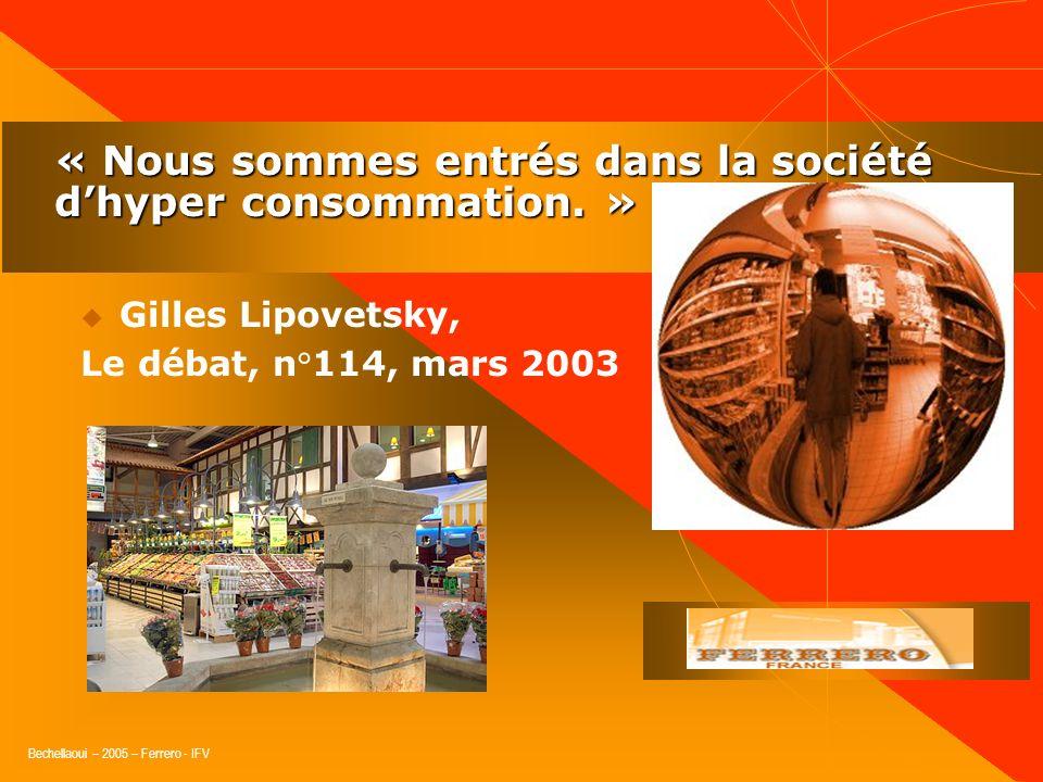 Bechellaoui – 2005 – Ferrero - IFV « La nécessité dune vision globale. »