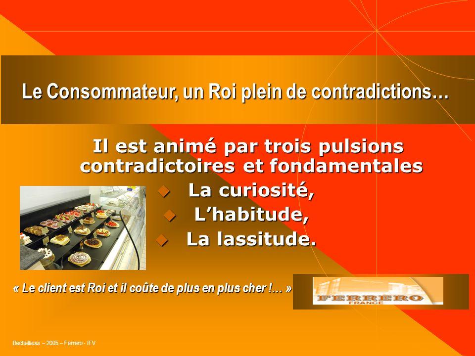 Bechellaoui – 2005 – Ferrero - IFV « Le pourcentage des consommateurs suffisamment enthousiastes pour recommander une marque à leur entourage est dire