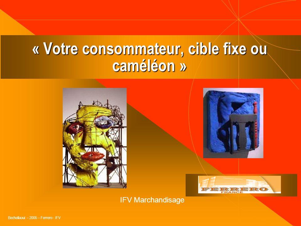 Bechellaoui – 2005 – Ferrero - IFV Le Connaître, comprendre le marché, les tendances… « Le commerce cest avant tout du vivant, pas de la technique !…