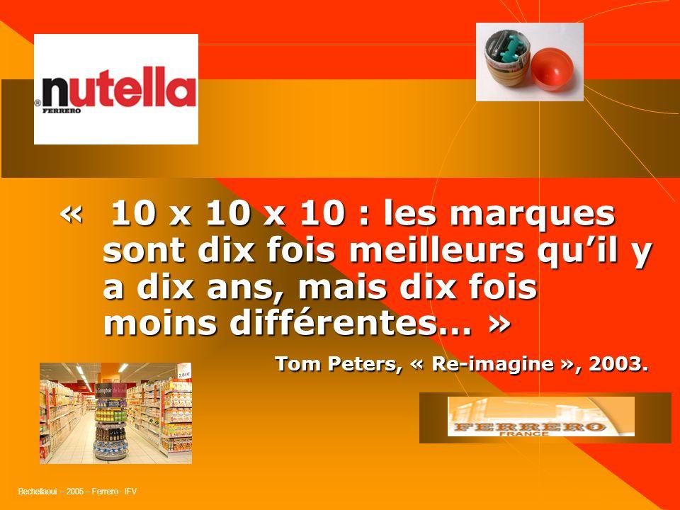 Bechellaoui – 2005 – Ferrero - IFV « Il ne faut pas interroger les consommateurs sur ce quils veulent mais sur les problèmes quils rencontrent dans le
