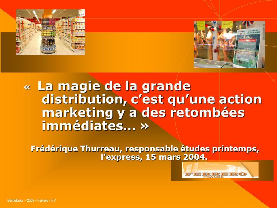 Bechellaoui – 2005 – Ferrero - IFV Le merchandising, Enfin…