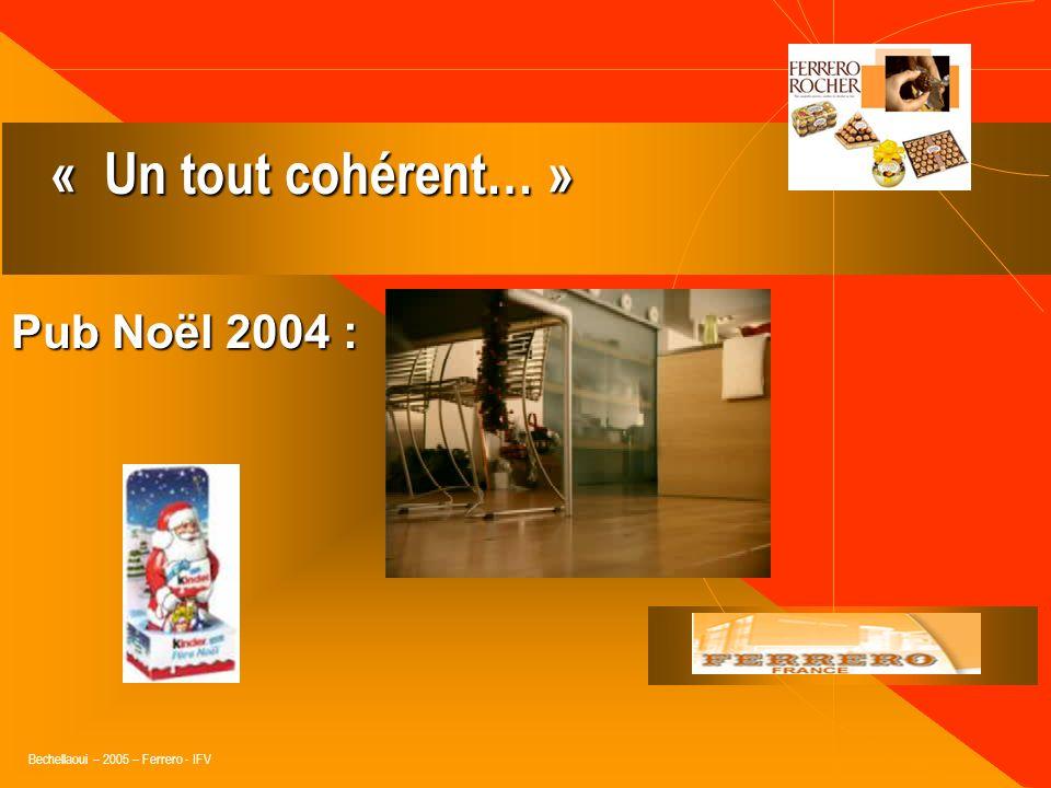 Bechellaoui – 2005 – Ferrero - IFV 42 % des Français sont séduits par la pub (33% en 99. Obs.Cetelem 2004.) 42 % des Français sont séduits par la pub